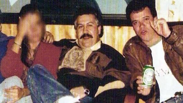 Popeye junto a Pablo Escobar.