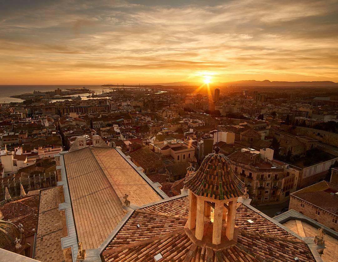 Tarragona vistas desde la Catedral. Todo el deporte en Tarragona