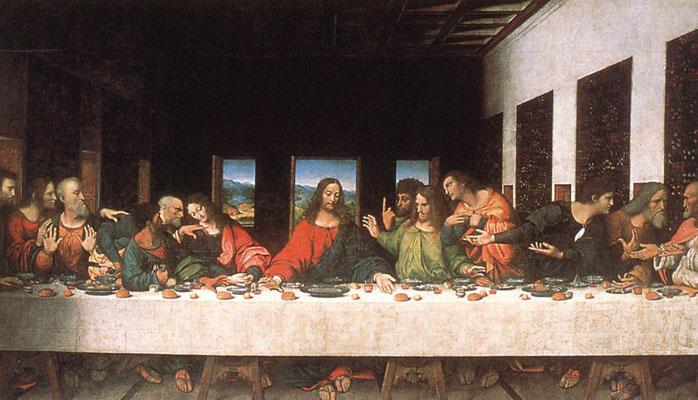 cuadro La última cena de Leonardo da Vinci