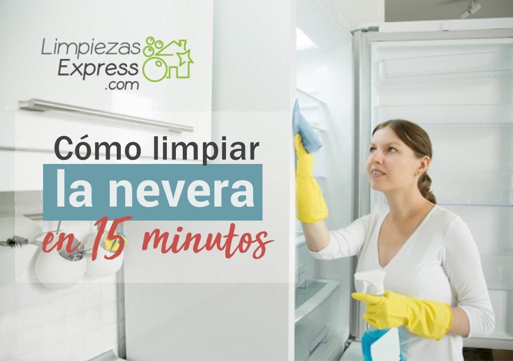 limpiar la nevera en 15 minutos, limpieza express de la nevera, limpieza rapida de la nevera,