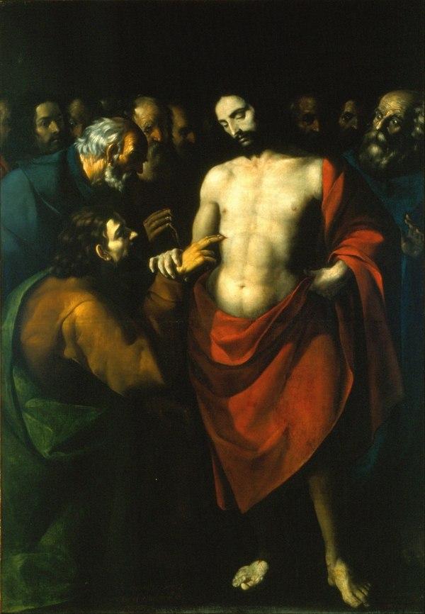 Sebastián López de Arteaga (1610-1656): La incredulidad de Santo Tomás. WIKIMEDIA COMMONS.