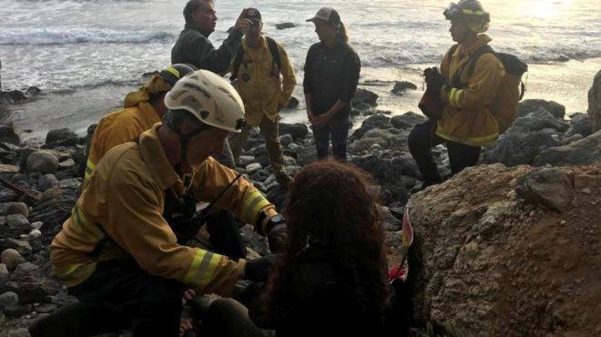 Cayó por un cantalido y ls rescataron una semana después — EEUU