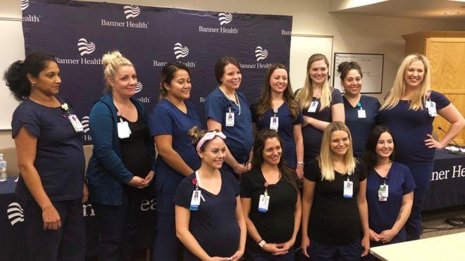 16 enfermeras embarazadas al mismo tiempo — Insólito