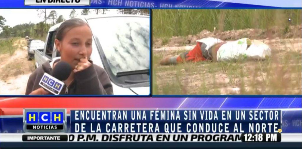 ¡Semi encostado! encuentran el cadaver de una femina en la carretera que conduce al norte del pais