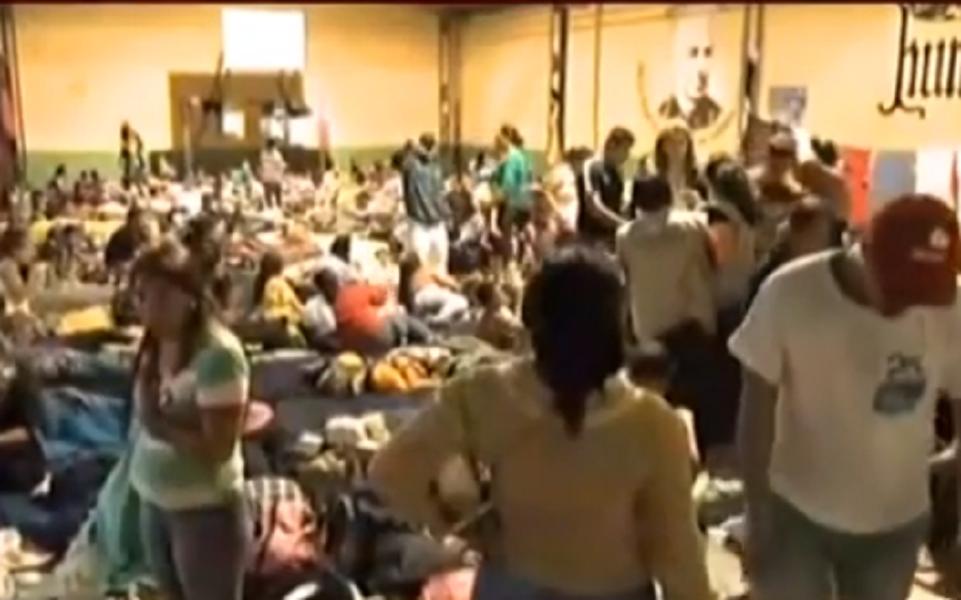 Caravana de Migrantes pasaran la noche en la Casa de Atención al Migrante en la capital de Guatemala