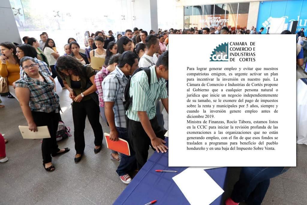 ¡ Para generar empleo y evitar más migración ! Empresarios de Cortés proponen exonerar a nuevos negocios independientes