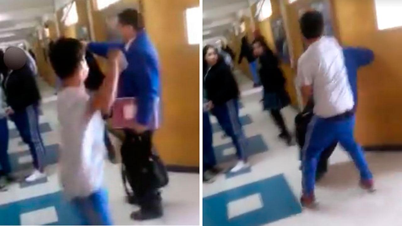 Chile: Estudiante le propina un puñetazo en la cara a un profesor