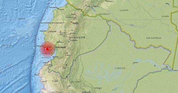 Sismo de 5,4 grados sacudió a Ecuador
