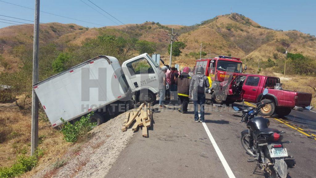 ¡ Un herido ! deja brutal colisión en carretera de Choluteca a Guasaule