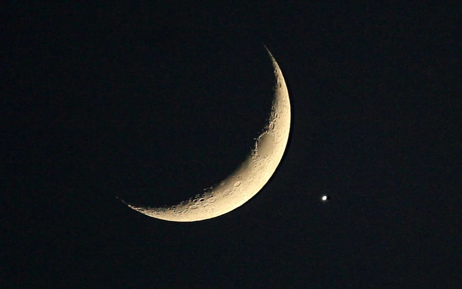 La Luna y Venus se 'besarán' en un único espectáculo astronómico