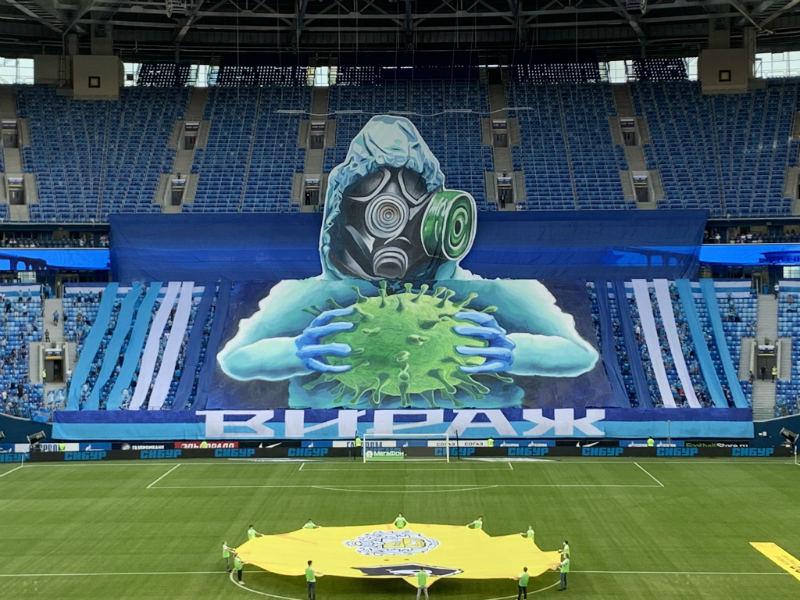 Increíble! Los aficionados del #Zenit se lucieron con un mosaico ...